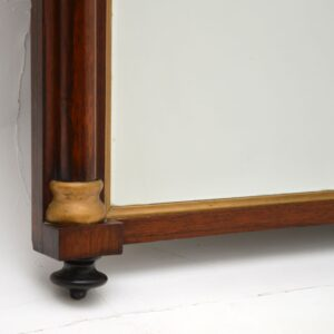 antique victorian rosewood gilt over mantle mirror