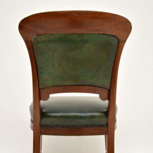 Antique Victorian Walnut & Leather Desk Chair