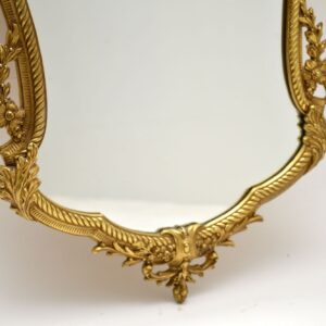 Antique French Style Solid Brass Mirror