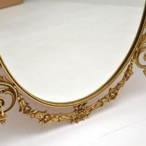 pair of antique brass french vintage mirrors