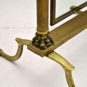 antique vintage brass cheval mirror peerage