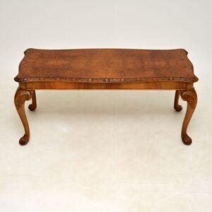 antique queen anne walnut coffee table