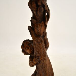 antique walnut oak carved black forest side table