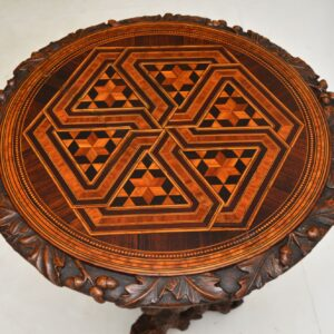 Antique Hand Carved Side Table