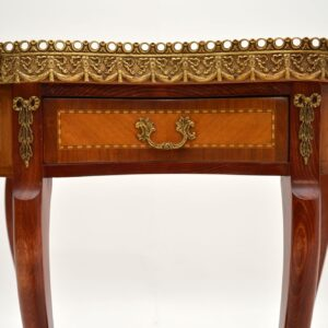 antique french marble top kidney shaoed side console hall table