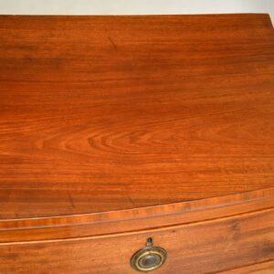 antique georgian period mahogany bow front chest of drawers