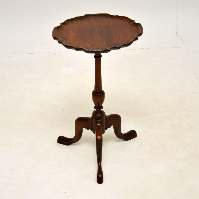 antique mahogany pie crust wine table