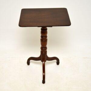 antique georgian oak occasional side tripod table