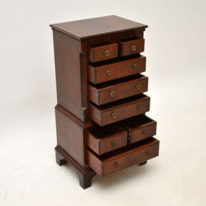 antique georgian style mahogany glove chest of drawers
