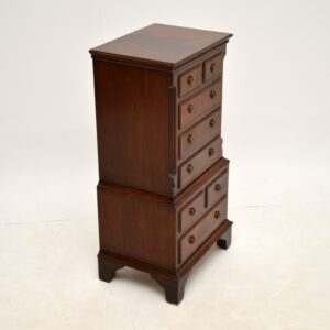 Small Antique Georgian Style Mahogany Chest of Drawers