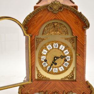 antique french inlaid gilt metal ormolu mantel clock