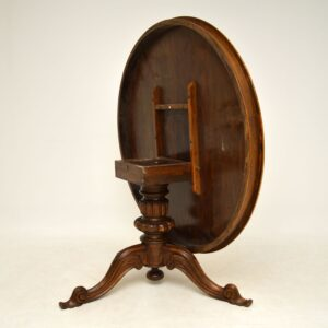 antique Italian inlaid marquetry dining breakfast tilt top table