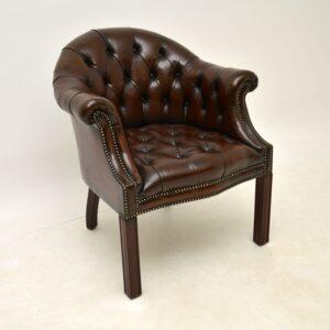 antique leather desk chair armchair