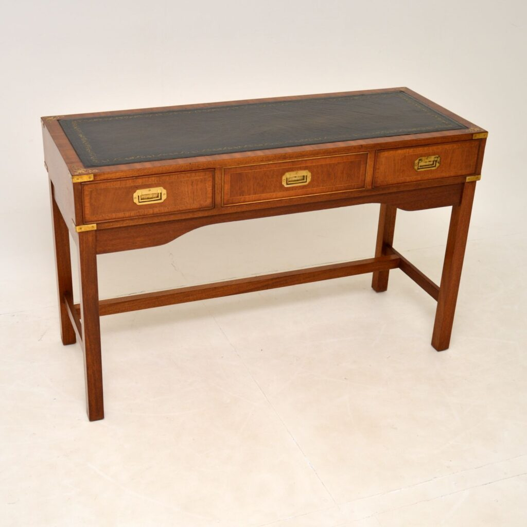 antique mahogany military campaign desk writing table