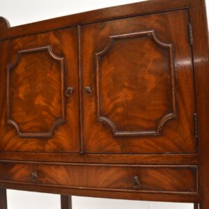 antique mahogany side table cabinet
