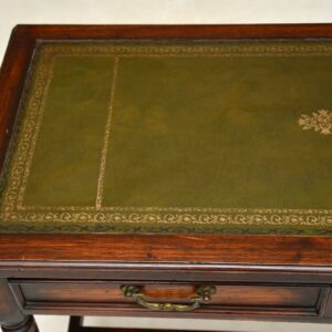 antique georgian victorian oak mahogany desk writing table