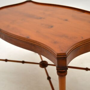 antique regency georgian yew wood coffee table