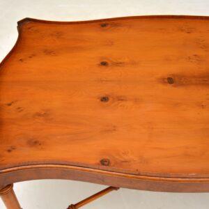 Antique Georgian Style Yew Wood Coffee Table