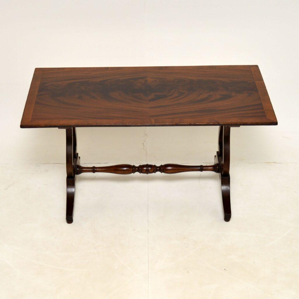 antique flame mahogany regency coffee table
