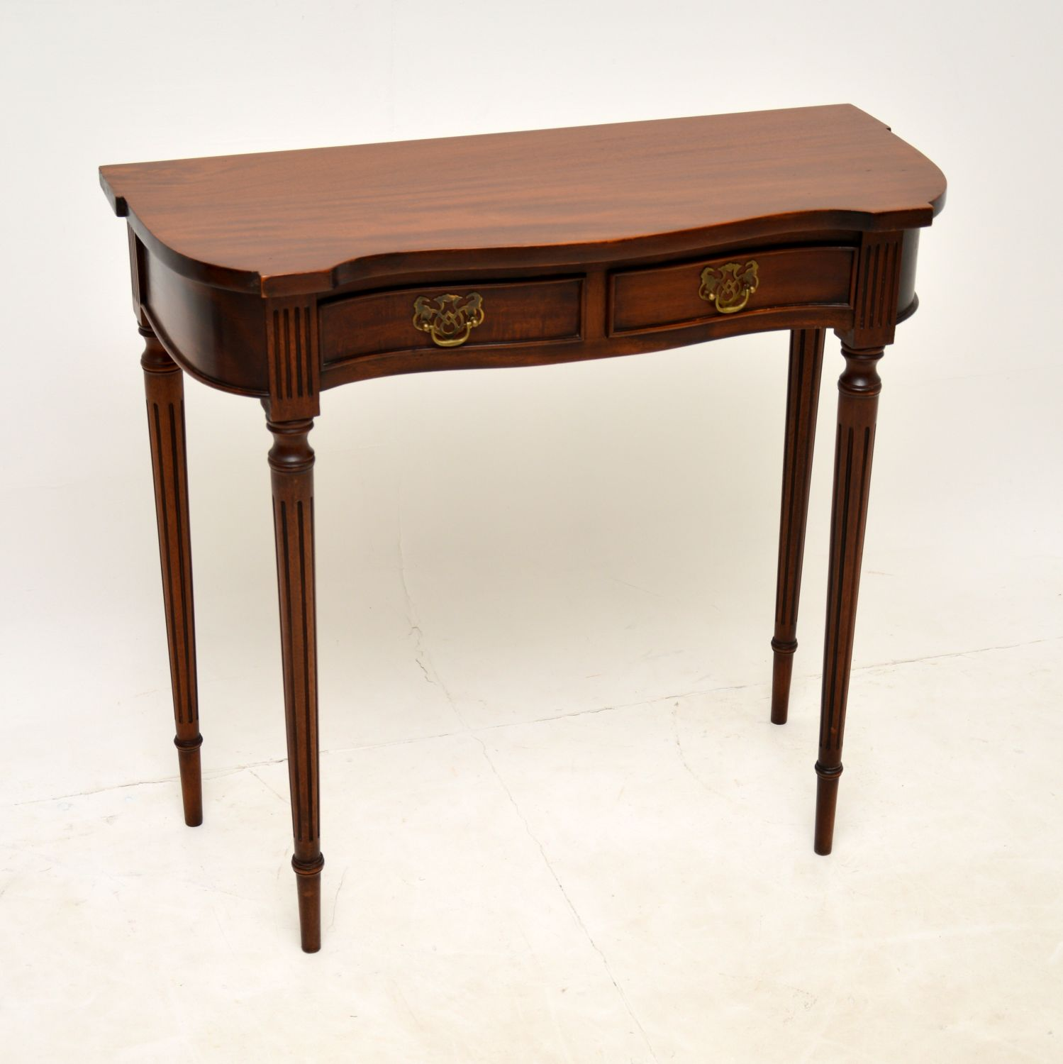 antique regency mahogany side console table