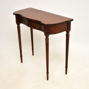 antique mahogany regency console side table