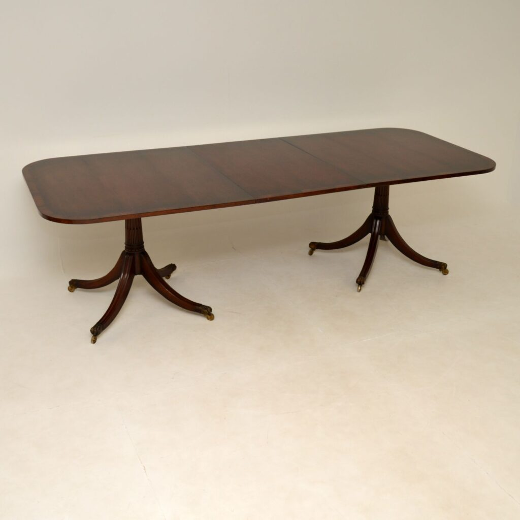 antique mahogany regency extending dining table