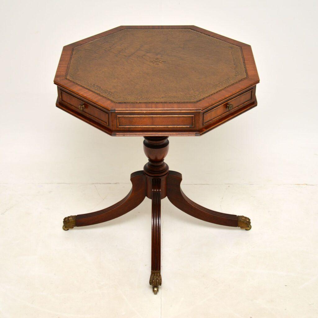antique regency mahogany drum table
