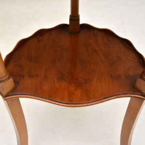Antique Regency Style Yew Wood Side Table