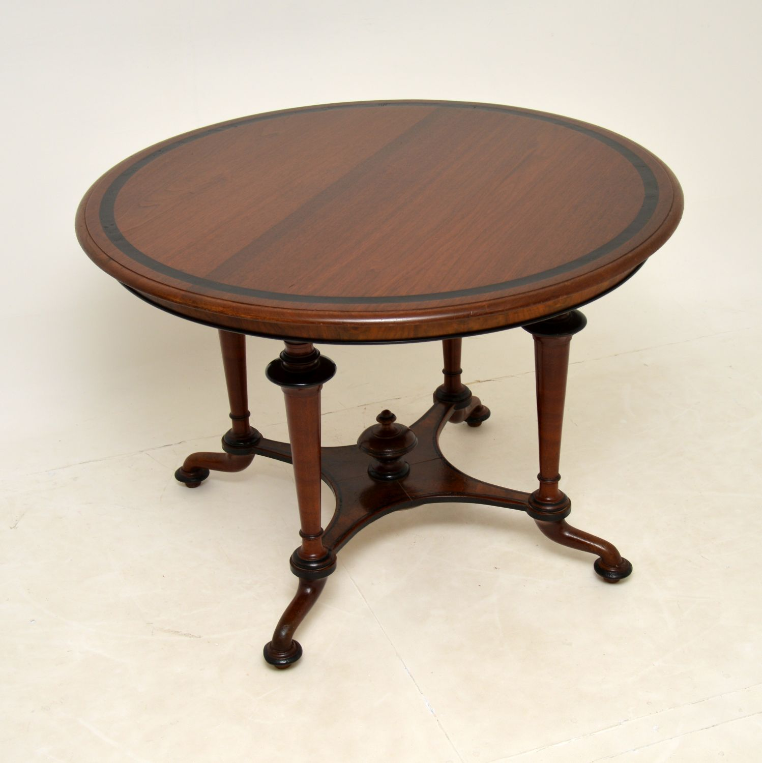 antique victorian walnut arts and crafts dining centre table