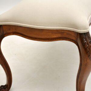 antique french walnut stool