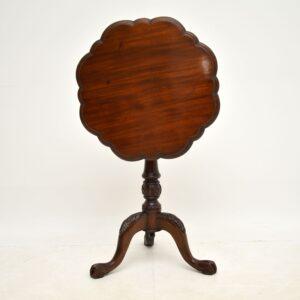antique victorian mahogany tripod birdcage table