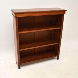 antique victorian walnut open bookcases