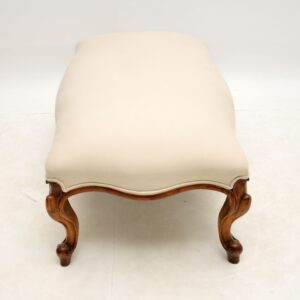 antique victorian solid walnut large stool