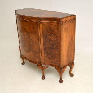 antique burr walnut sideboard cabinet