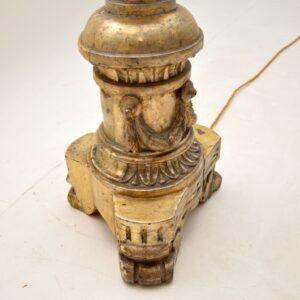 pair antique italian gilt silver floor lamps