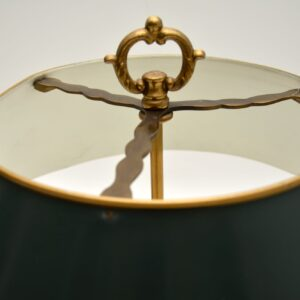 pair of antique french gilt metal brass tole table lamps