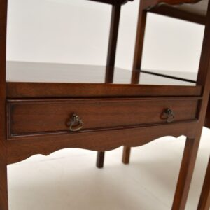 pair of antique mahogany bedside lamp side end tables