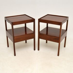Pair of Antique Mahogany Side Tables