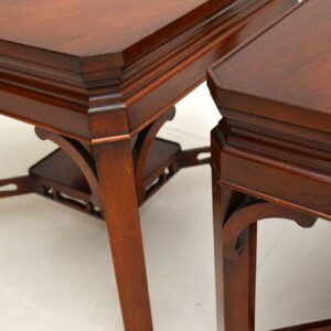 Pair of Antique Georgian Style Mahogany Side Tables