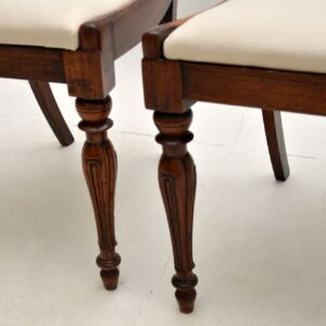 pair of antique victorian william IV regency rosewood dining side chairs