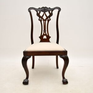 set of 8 antique mahogany chippendale dining chairs