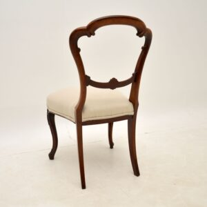 Set of 4 Antique Victorian Rosewood Balloon Back Dining Chairs