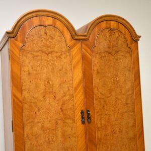 antique burr walnut wardrobe linen press