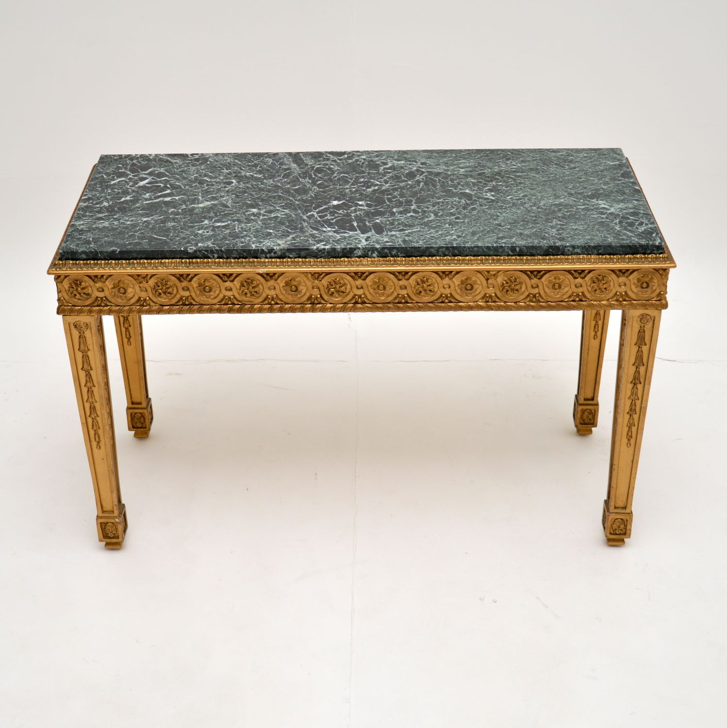 antique french marble gilt wood vintage coffee table