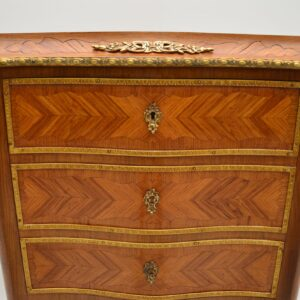 antique french inlaid marquetry bureau chest