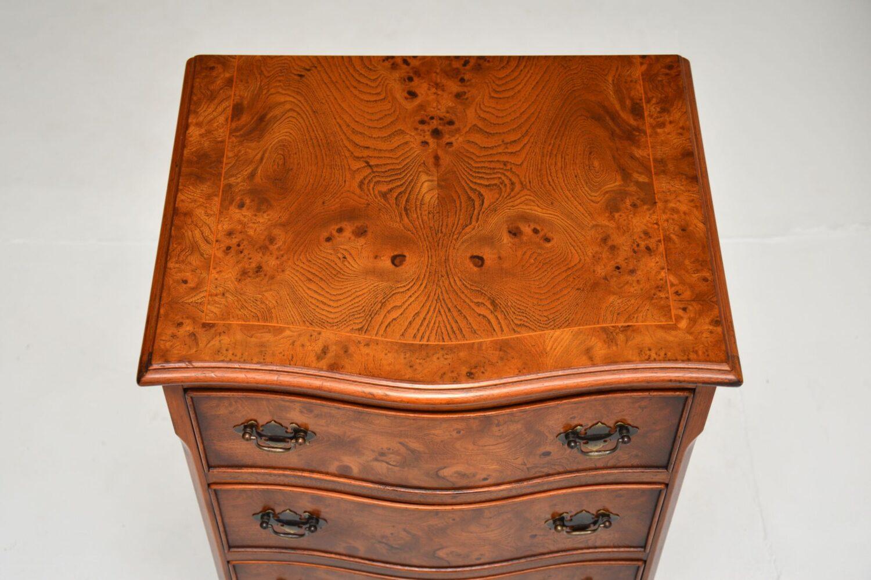 antique georgian burr walnut chest of drawers