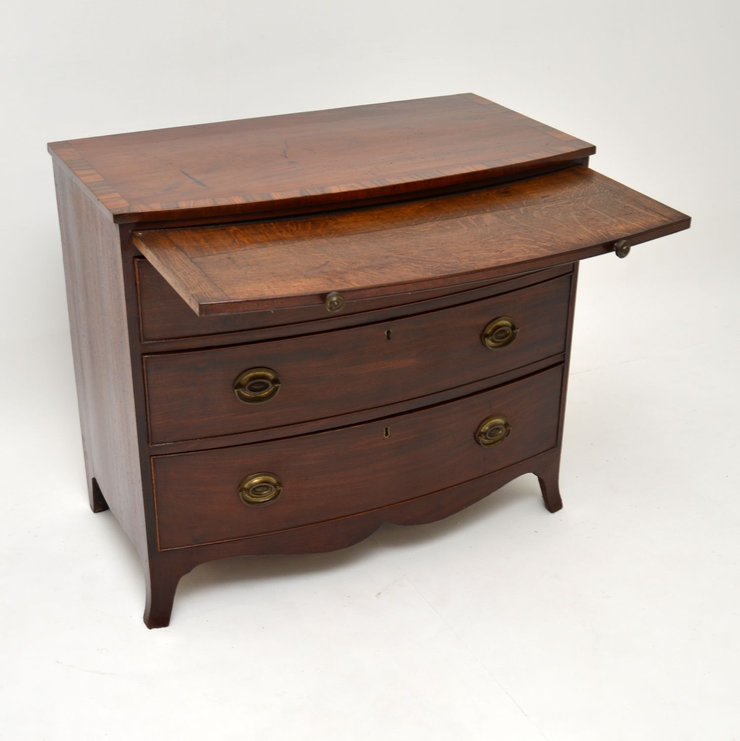 antique georgian bow front mahogany chest of drawers