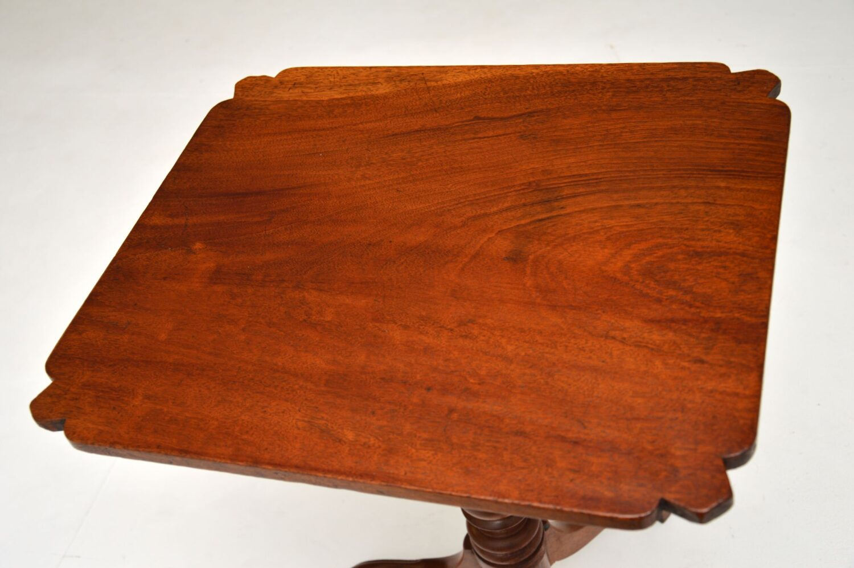 antique georgian george III period mahogany occasional table