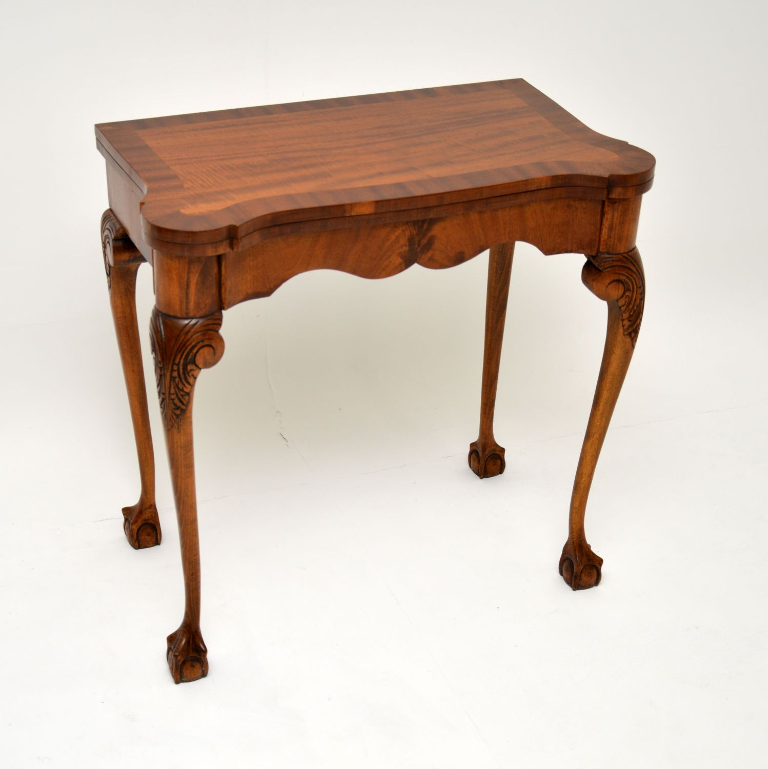 antique queen anne mahogany card table