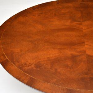 antique regency inlaid mahogany coffee table